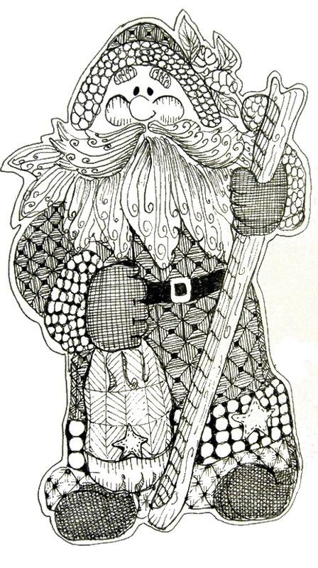 Adult Coloring Pages Free to Print Santa Claus