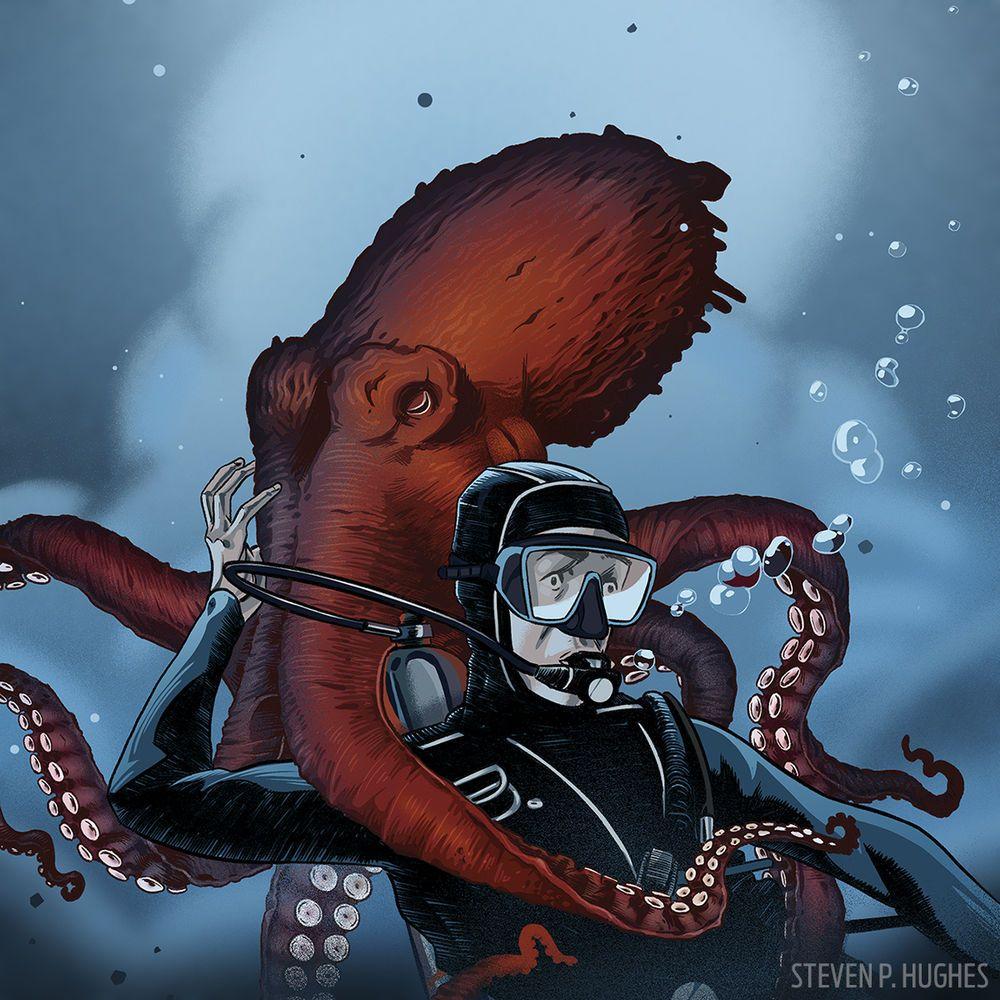 Giant Pacific Octopus attack. | Release the Kraken ...