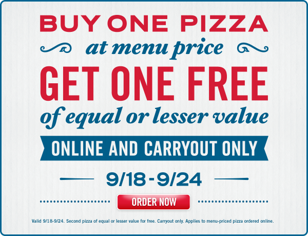 Carryout Deal Buy One Get One Free Order Pizza Dominos Pizza