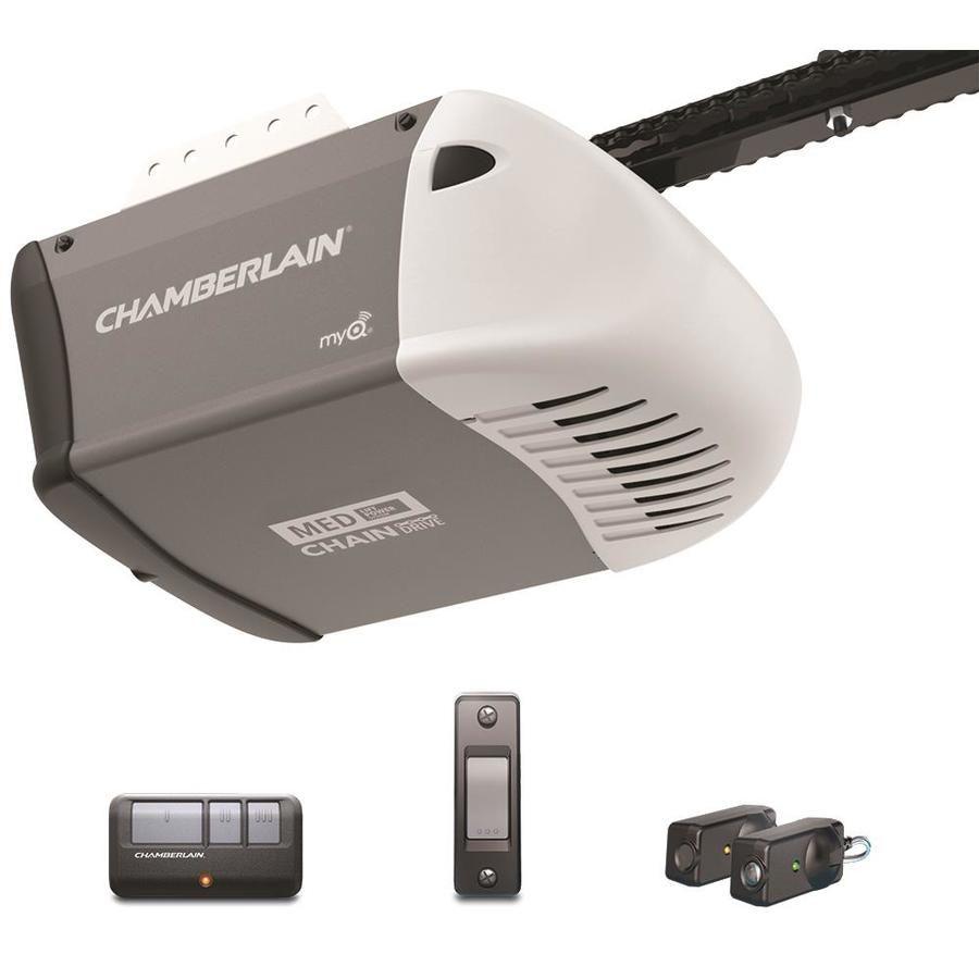 Chamberlain 0 5 Chain Drive Garage Door Opener Garage Door Opener Chamberlain Garage Door Opener Garage Door Opener Installation