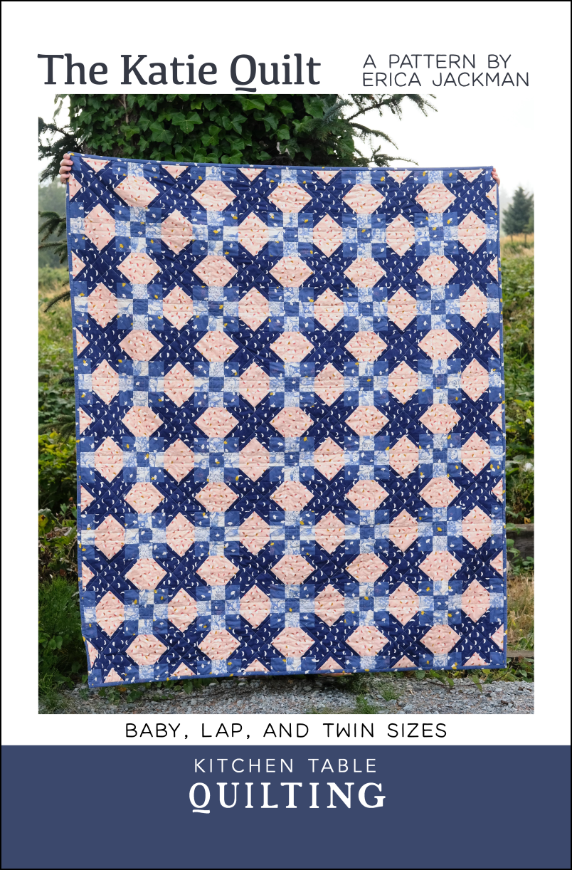 The Katie Quilt PDF Pattern is part of Quilts, Quilt patterns, Paper quilt, Pdf quilt pattern, Twin quilt size, Pattern - This listing is for The Katie PDF Quilt Pattern  This is a great pattern for experienced beginners and also has a lot of potential for experimenting with color or making a scrappy quilt   Baby Size 38  x 48  Lap Size 58  x 68  Twin Size 68  x 88  Coloring sheets for each size of the pattern are available for free download here   This pattern is a PDF and it will be sent to your email immediately after purchase  It has been tested by multiple pattern testers  Please contact me if you have any questions, comments, or if you would like to share a photo of your quilt with me (I would love that!)