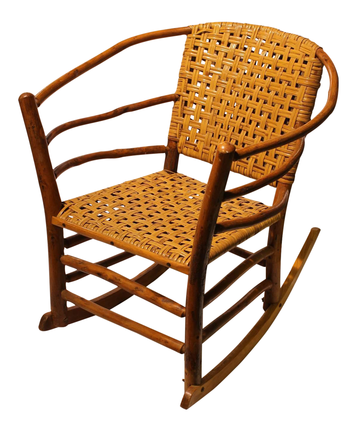 Mexican Rocking Chair 1940s American Old Hickory Co Rocking Chair On Decaso