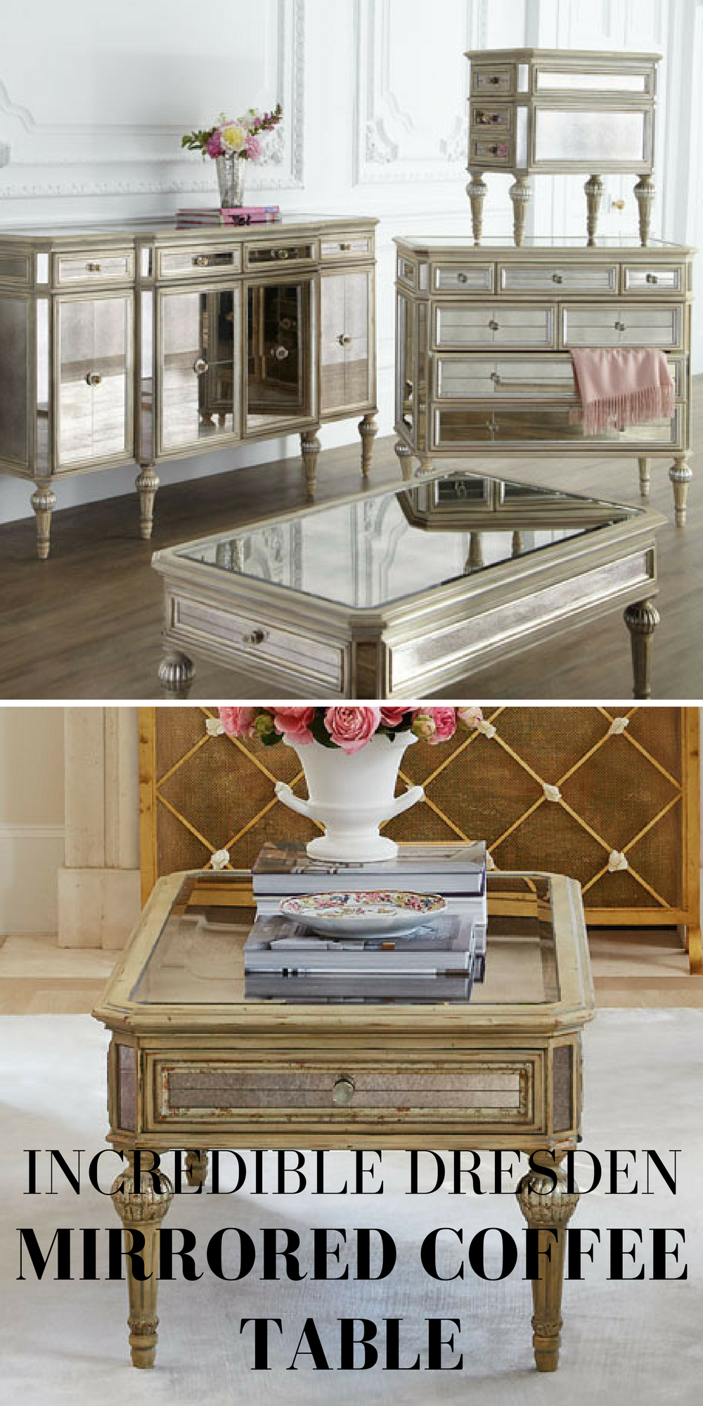 An Incredible Coffee Table Made Of Select Hardwoods With An Antique - Antique cream coffee table