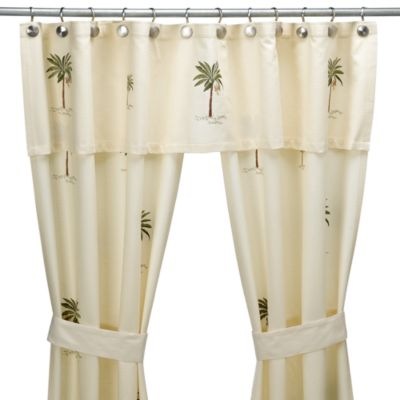 Buy Croscill® Port Of Call Double Swag Shower Curtain Set From Bed Bath U0026  Beyond