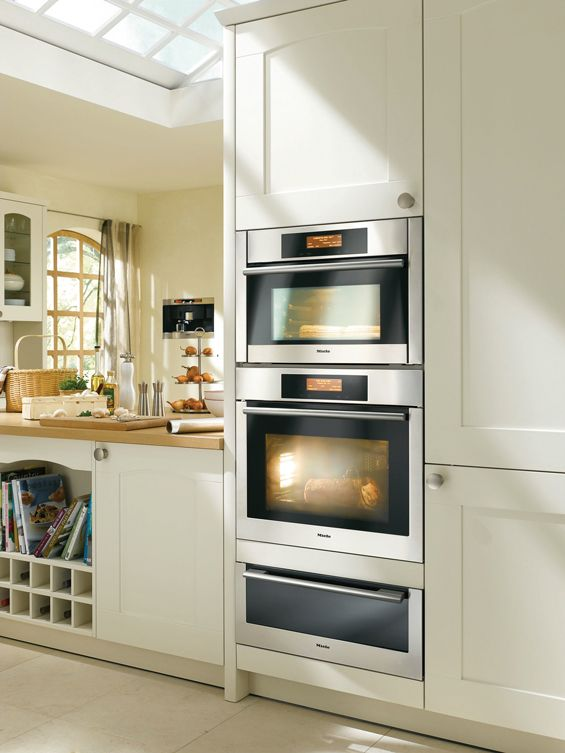 Miele double oven and warming drawer (and concealed refrigerator ...