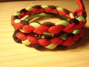 Paracord three color braid