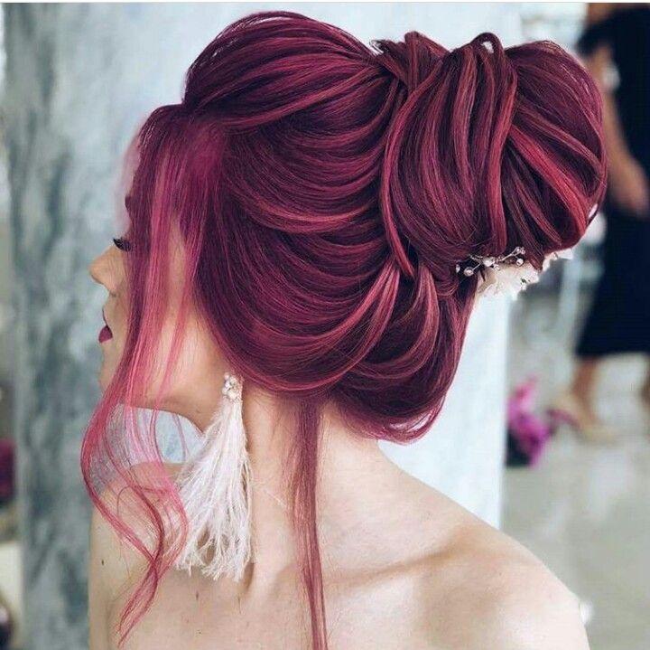 idee von roe auf dyed hair   frisuren, frisur hochgesteckt