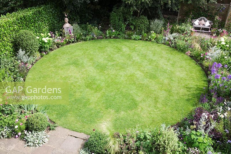 image result for circular garden