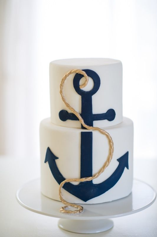 Delicious Desserts Nautical Wedding