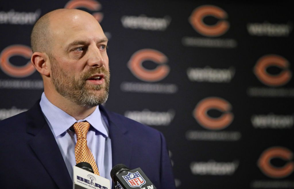 New Chicago Bears Head Coach Matt Nagy Speaks To The Media During An Chicago Bears Nfl News Coach