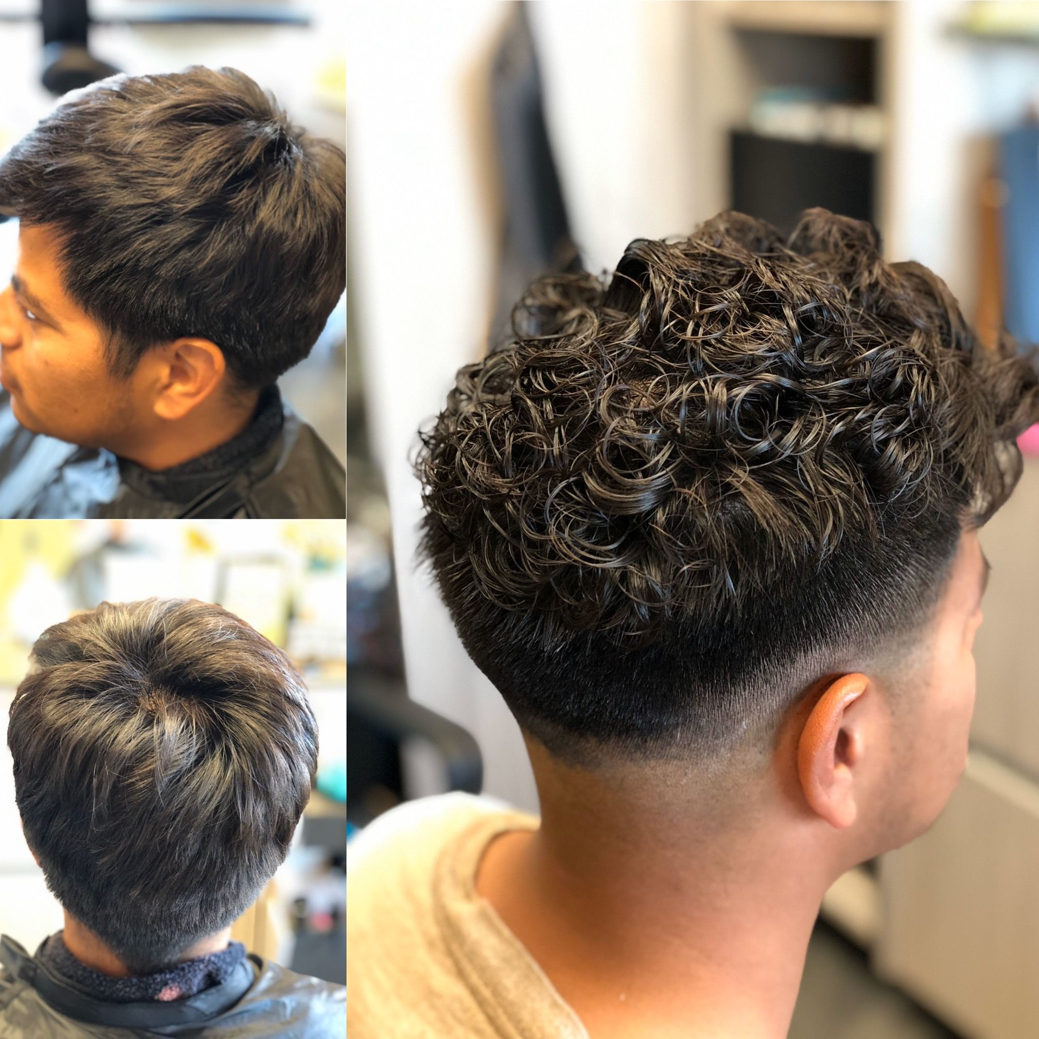 Men S Perm In 2020 Loose Perm Loose Perm Short Hair Colored Curly Hair