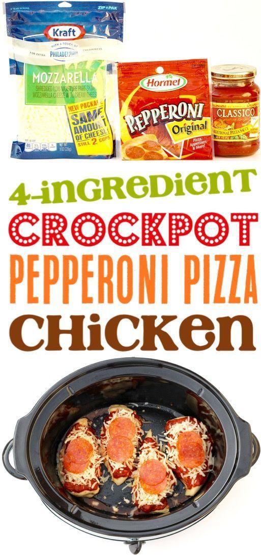 Crock Pot Pepperoni Hühnchen Rezept! {Besser als Pizza}  – ::Chicken Crockpot Recipes::