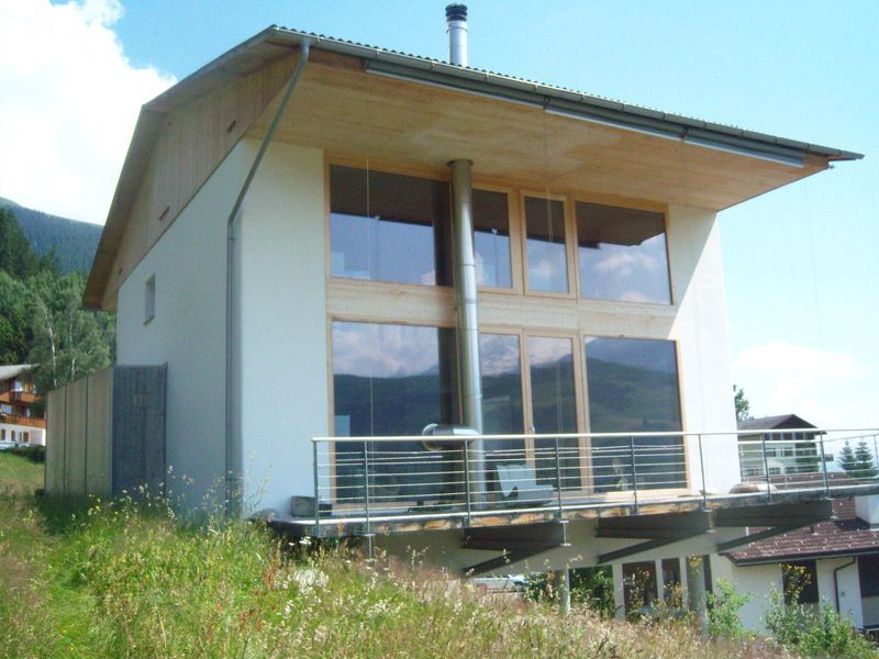 Straw bale house built with big bales - by Werner Schmidt