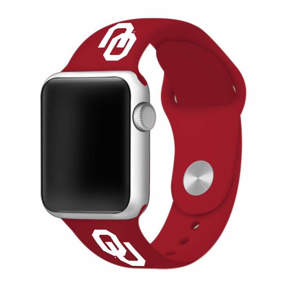 Oklahoma Sooners Silicone Sport Band Fits Apple Watch