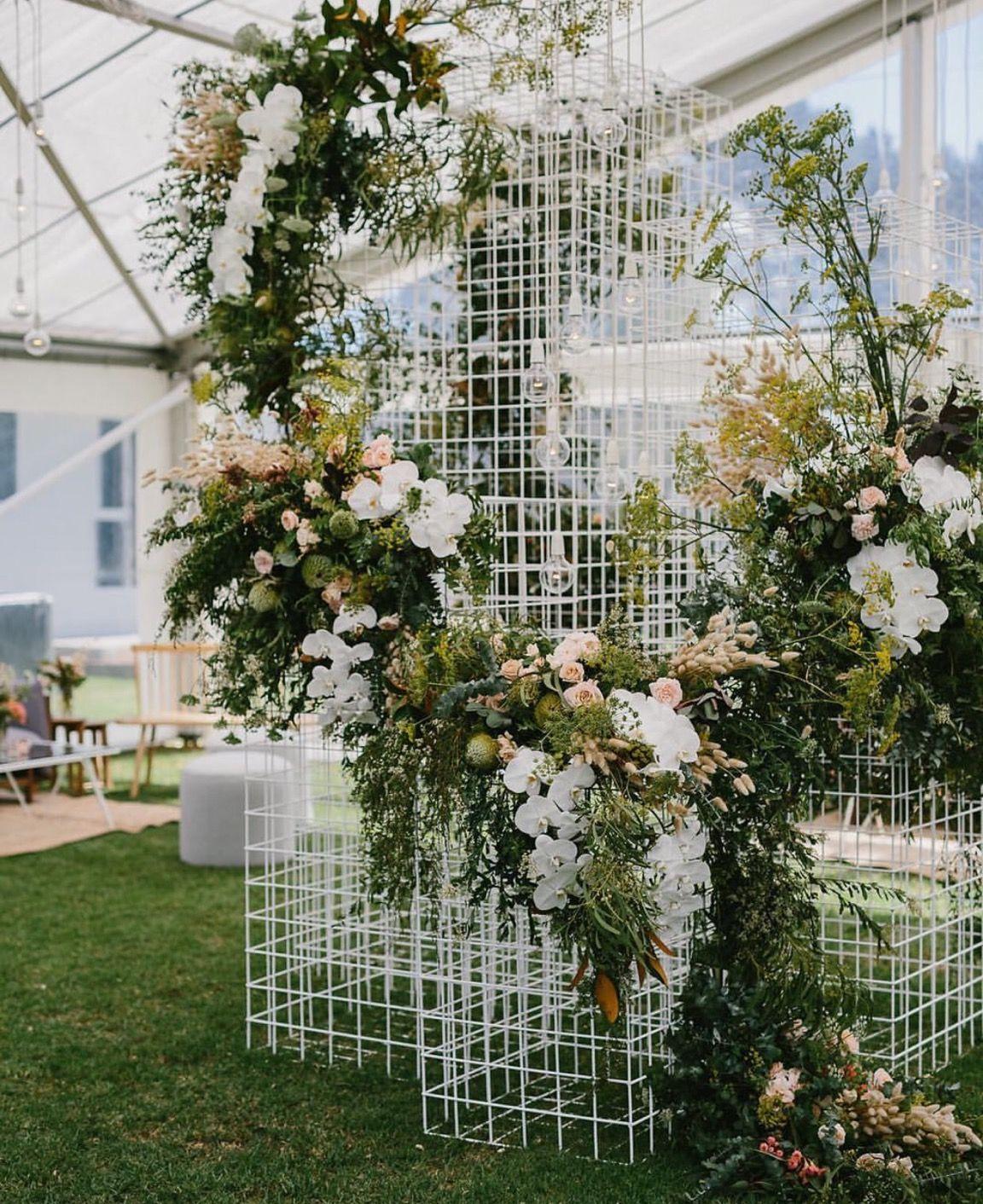 Fairy light wedding decoration ideas  DIY wire sculpture Use greens and fairy lights Add Monogram