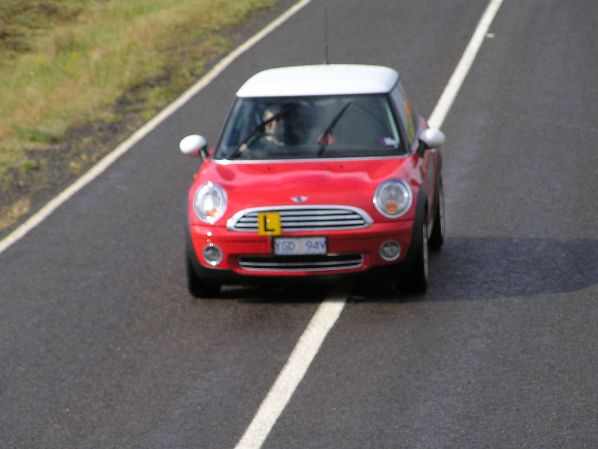 Learning in a Mini Cooper out on the track www.panachedrivertraining.com