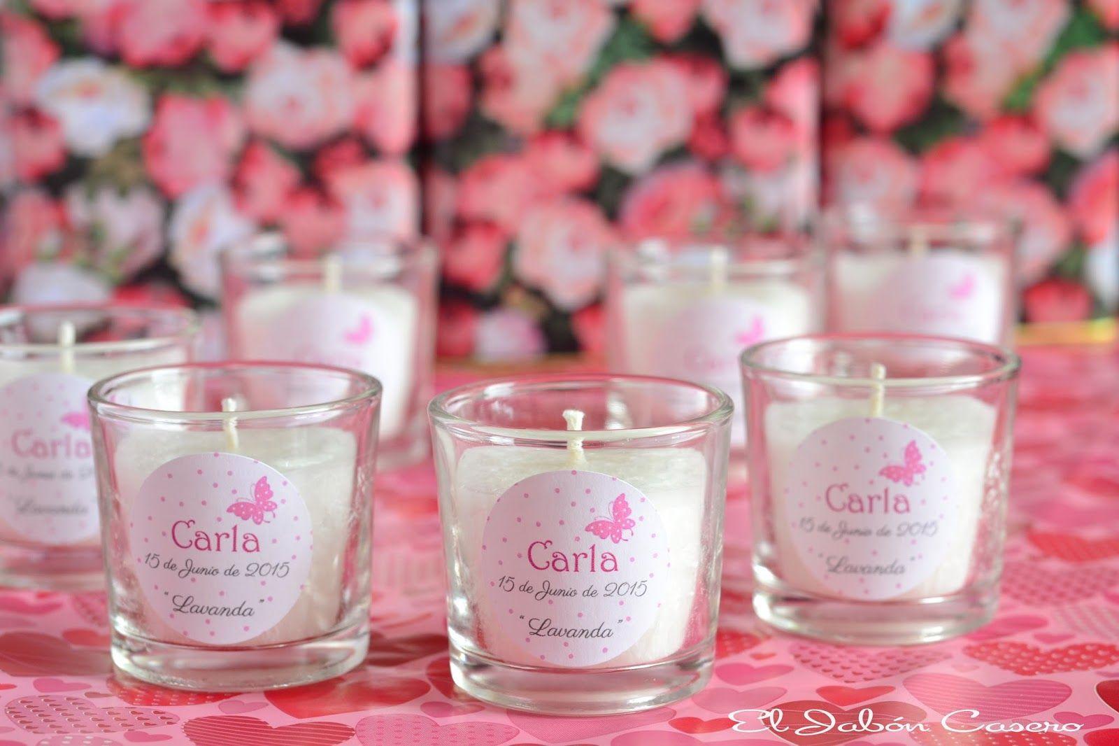 detalles de bautizo velas aromticas de lavanda