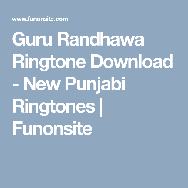 punjabi ringtone download site