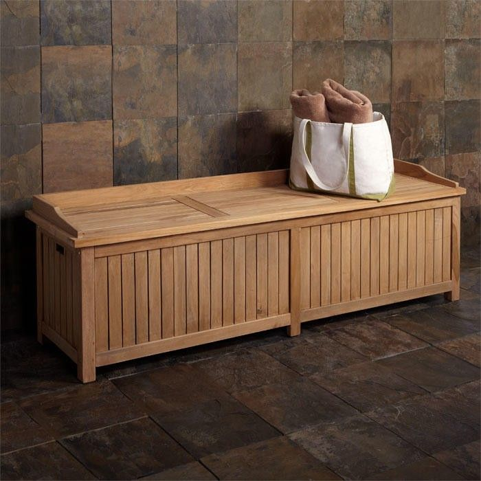 Gentil Jakie 6 Ft Teak Storage Bench