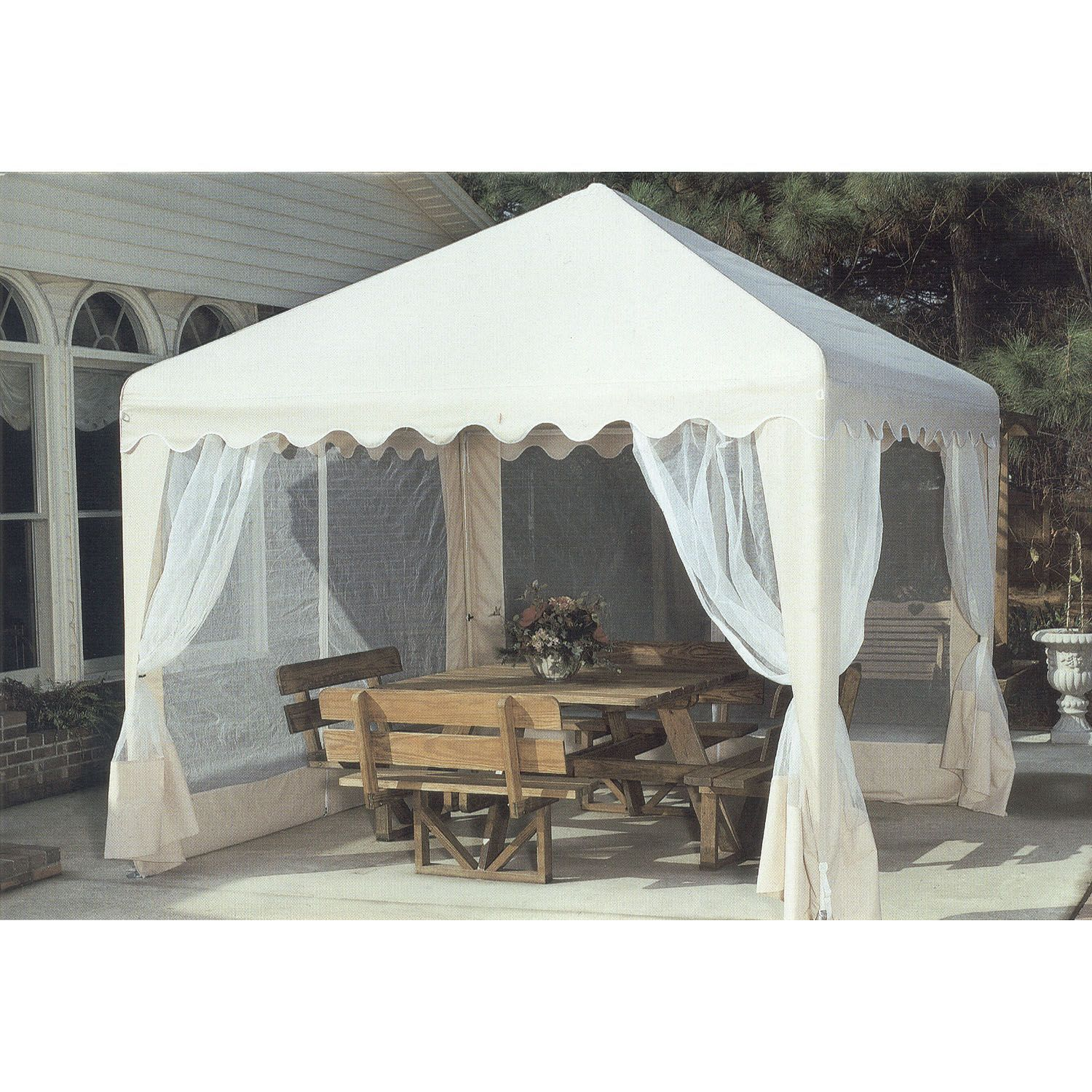 Garden Party Gazebo Almond 13 X 13 Sam S Club Canopy Outdoor Diy Gazebo Gazebo Canopy