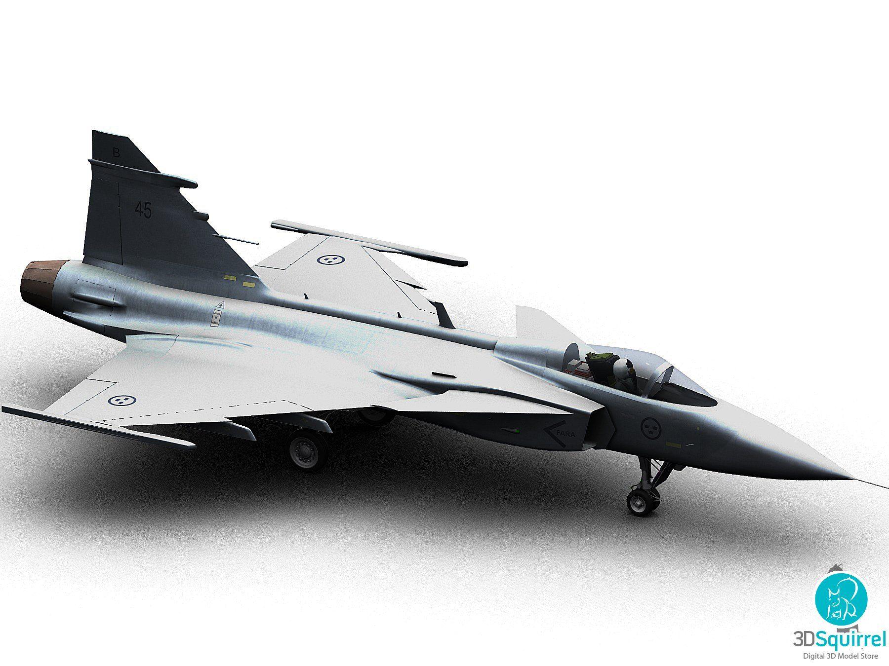 Jet Plane 3D Model obj fbx max | 3DSquirrel | Aircraft 3D Models