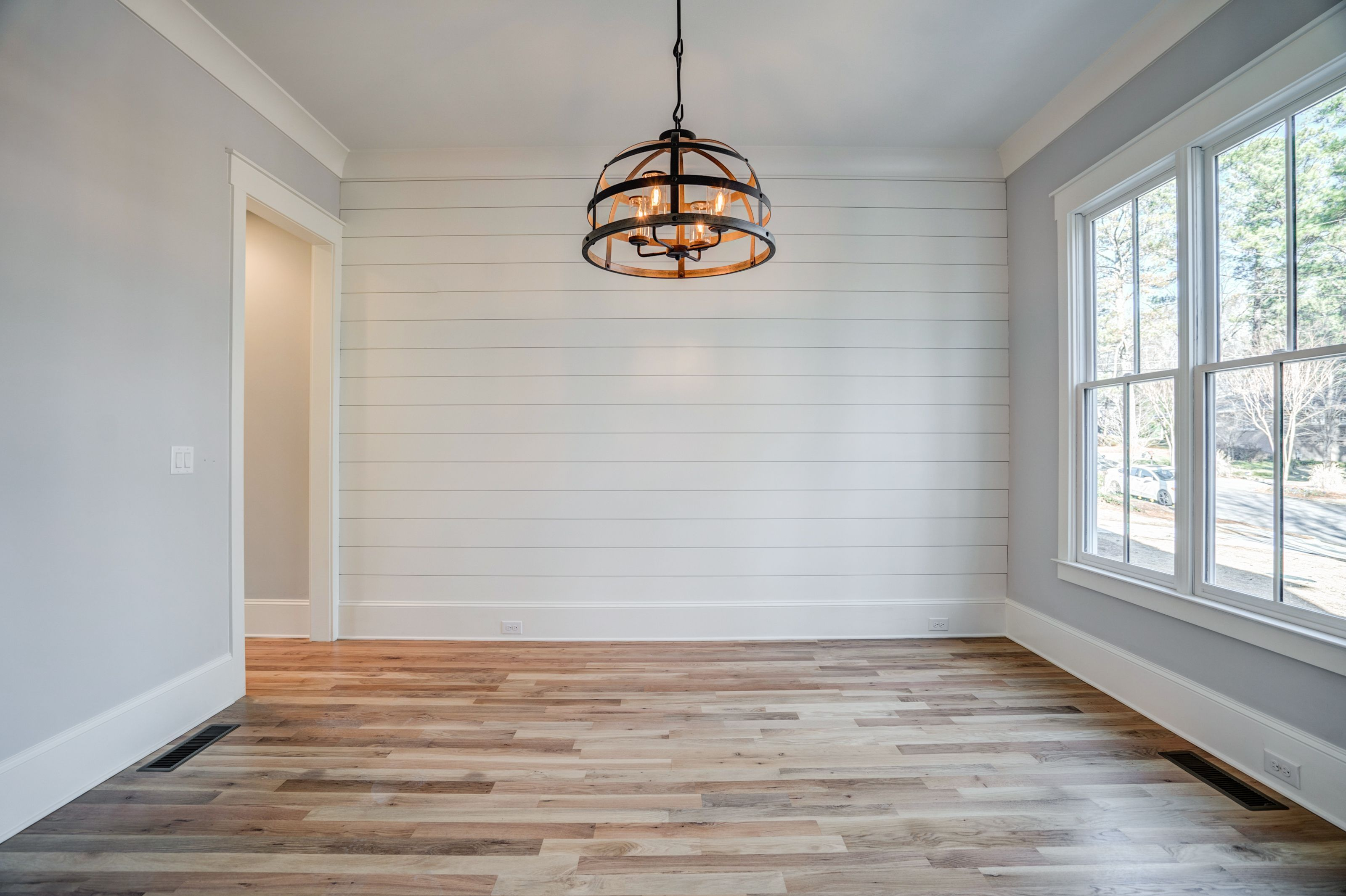 Dining Room w Shiplap Accent Wall   Dining room accent ...