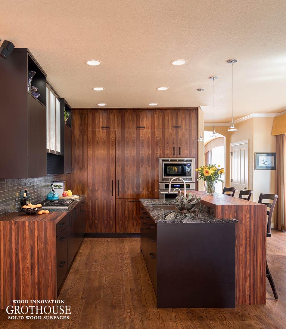 Bolivian Rosewood Countertops In Denver Co Rosewood Kitchen Wood Countertops Kitchen Farmhouse Style Kitchen Inspiration Design