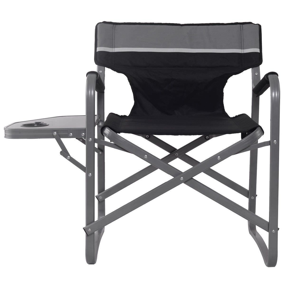 Camping directors chair with cup holder folding outdoor