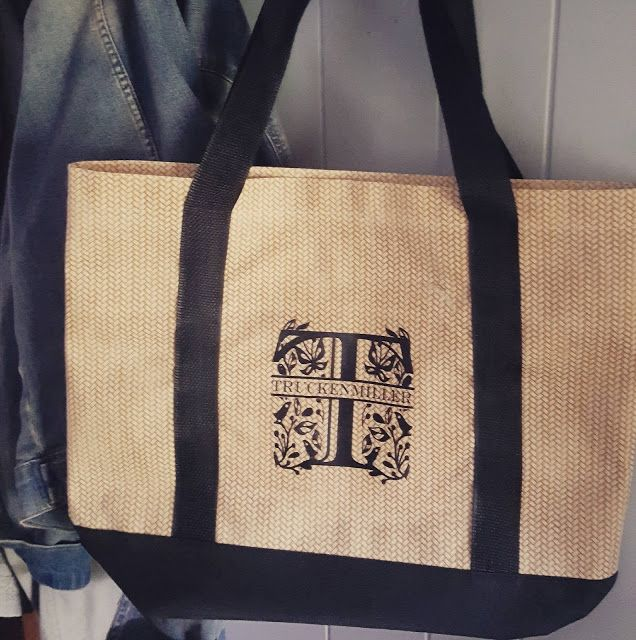 How To Make A Split Monogram For A Dollar Store Tote