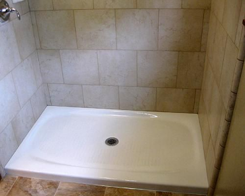 Perfect Salient Cast Iron Single Threshold Shower Base White Bath Kohler Sterling Pan  Installation Glass Panels Receptor .