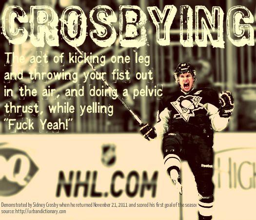 NHL Dictionary: Crosbying