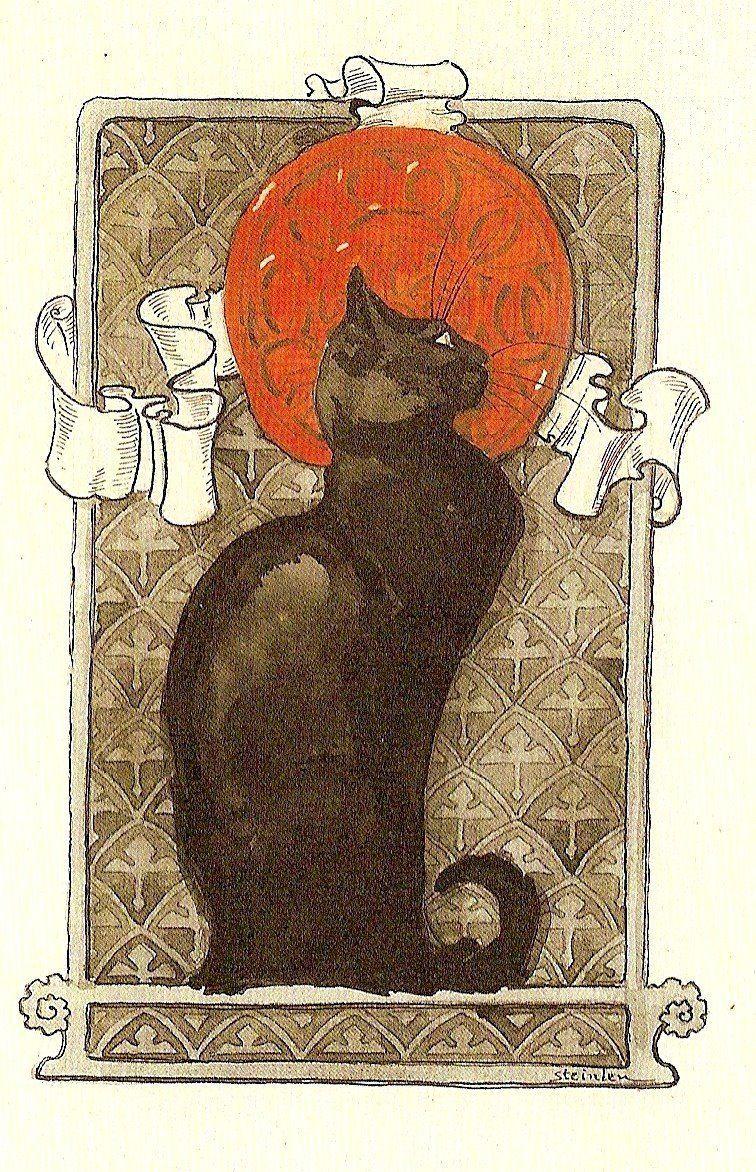 cat art nouveau theophile steinlen circa 1896 fine art giclee print is part of Art nouveau poster - Cat   Théophile Steinlen  circa 1896  Fine Art Giclee Print artNouveau Carteles