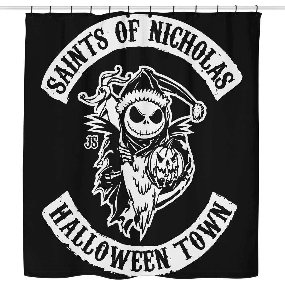 Saints Of Nicholas Shower Curtain Nightmare Before Christmas