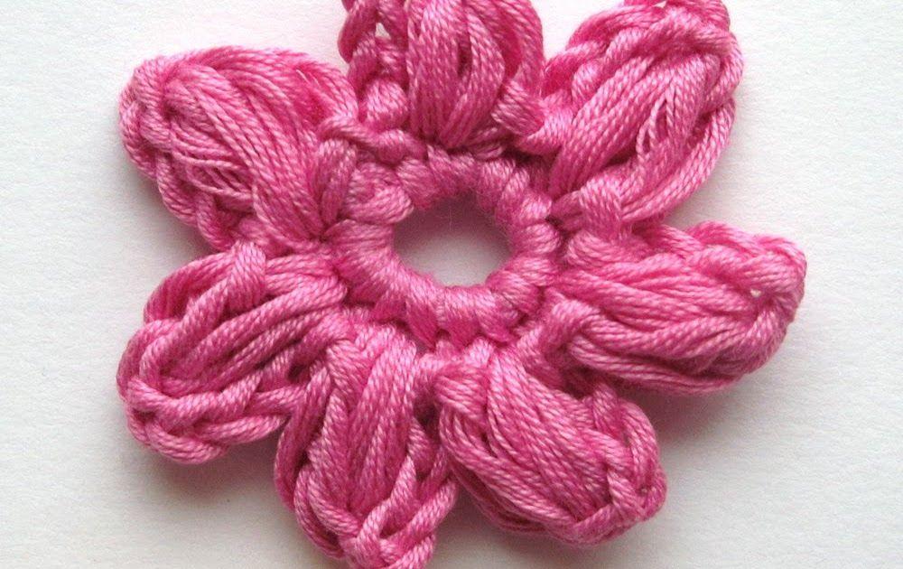 Here instructions for the crocheted flower I used in the baby cardigan .  Tässä kuvaohjeet vauvan villatakissa käyttämääni kukkaan .    ...