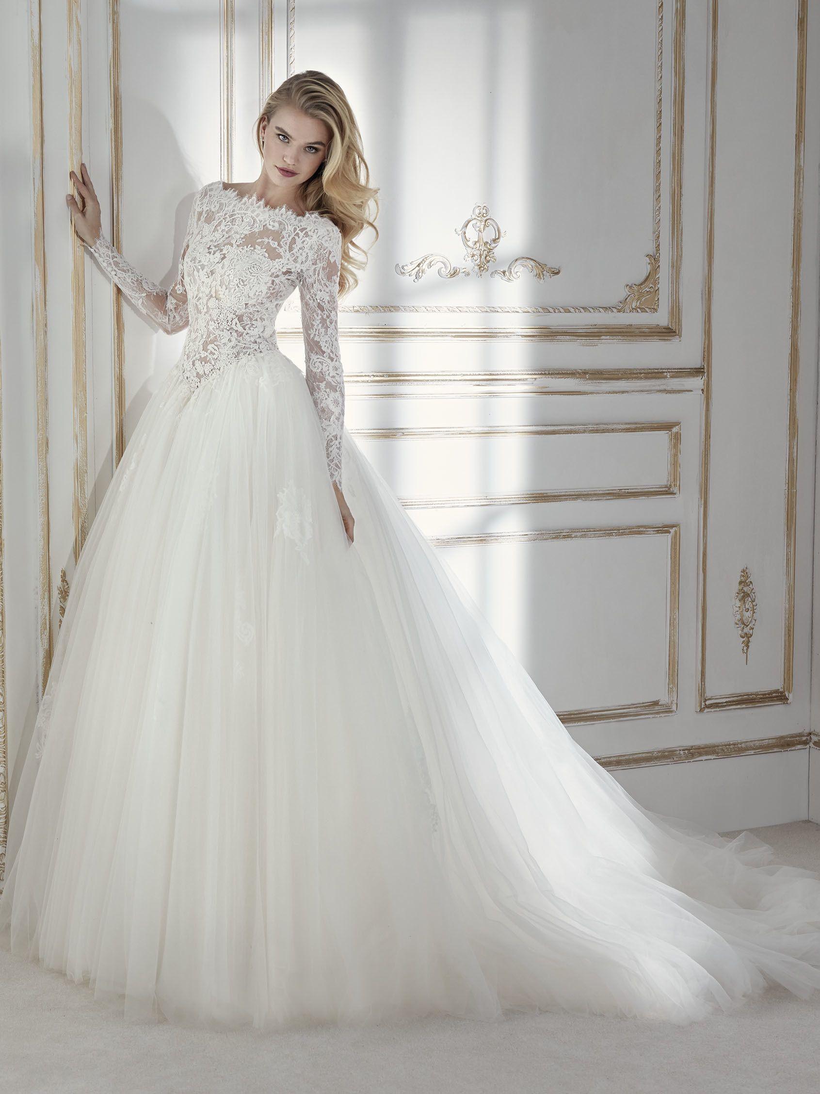 Umwerfendes, tailliertes Brautkleid im Prinzessin-Stil in