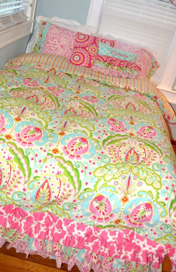 Twin Or Full Size Bedding In Kumari Garden Fabric Full Size Bed