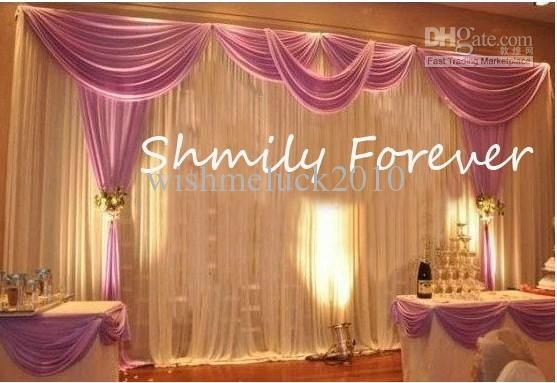 Romantic 3x6meters ice material soft wedding backdrops wedding stage romantic 3x6meters ice material soft wedding backdrops wedding stage decor junglespirit Images