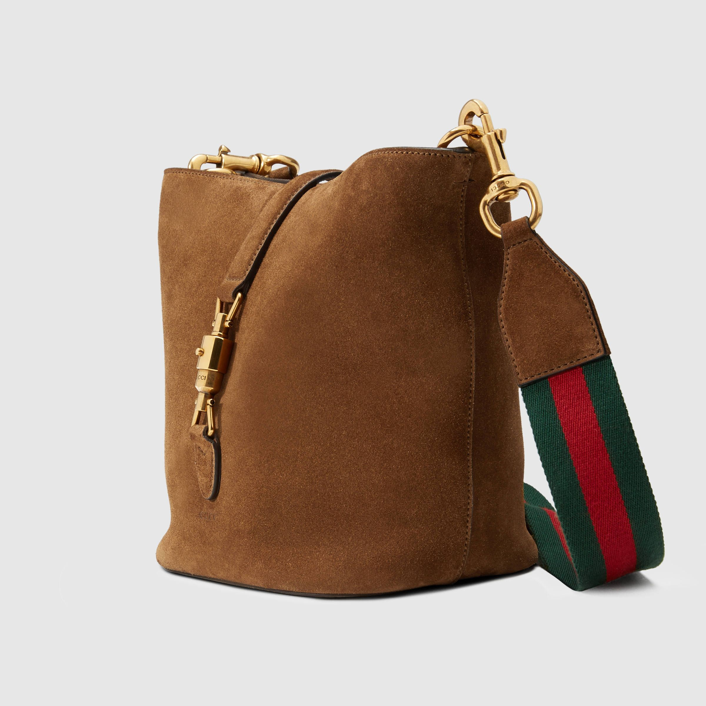 a63c513640e8 Gucci Women - Jackie Soft suede bucket bag - 380579CEMIT2676