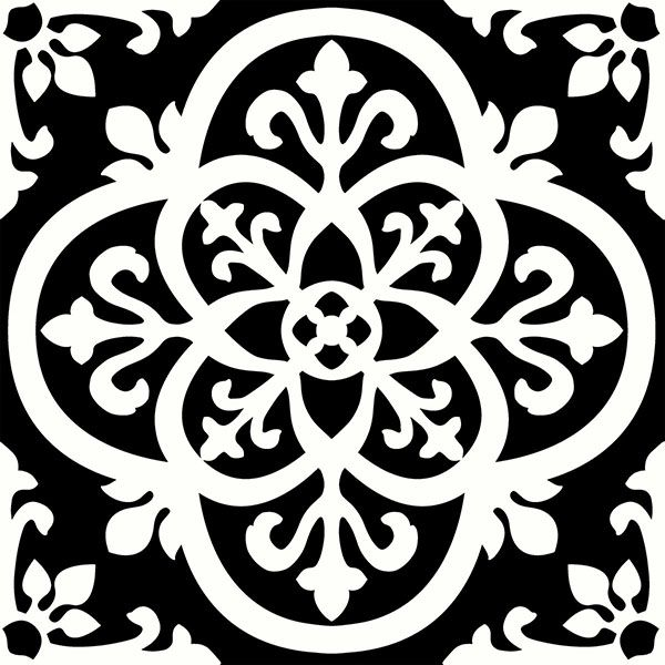 Black And White Kitchen Tile Stickers