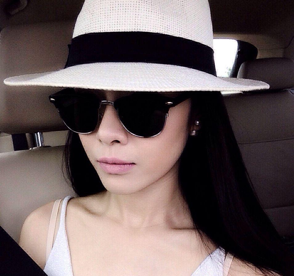 Panama style i love hat