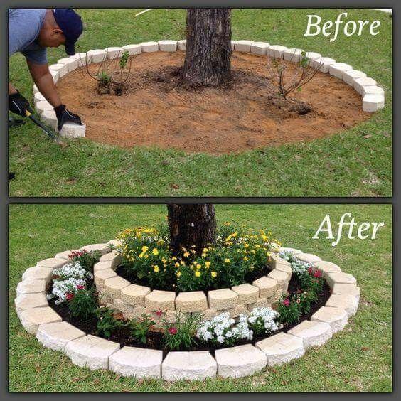 Love this idea Landscaping fenced in backyard Pinterest El - como hacer una jardinera