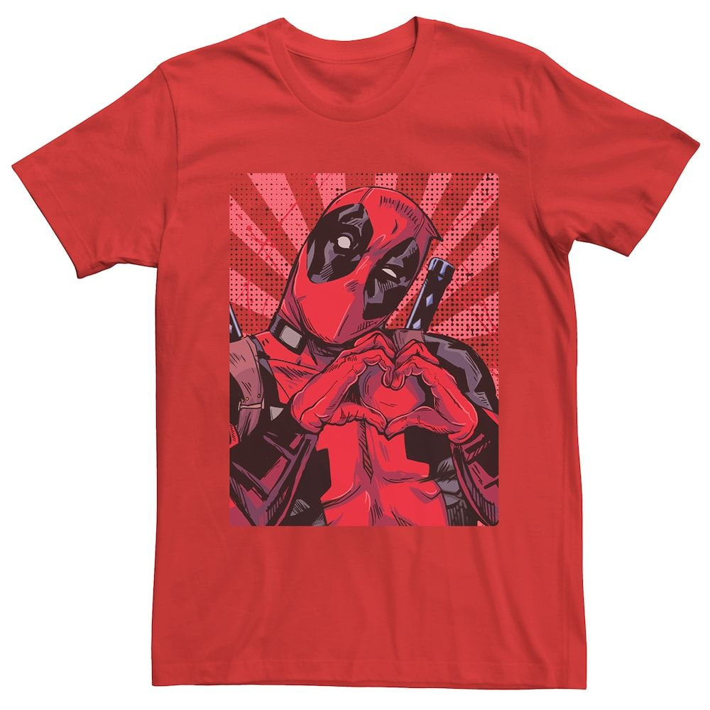 Deadpool Distressed Logo Fitted Jersey Tee Unisex