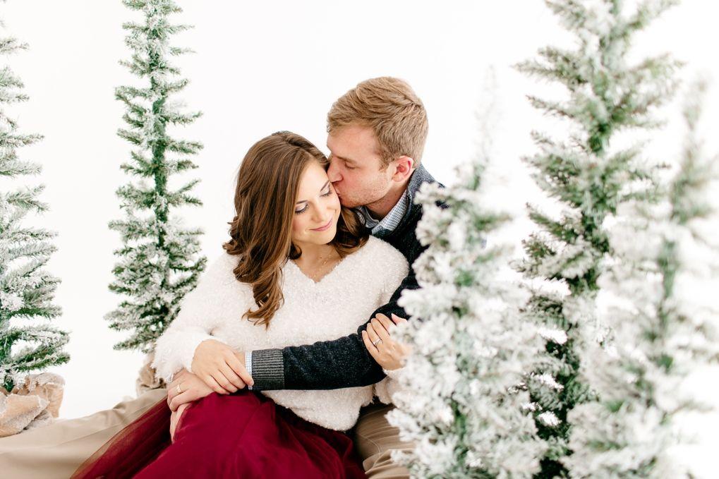 14 christmas photoshoot couples studio ideas