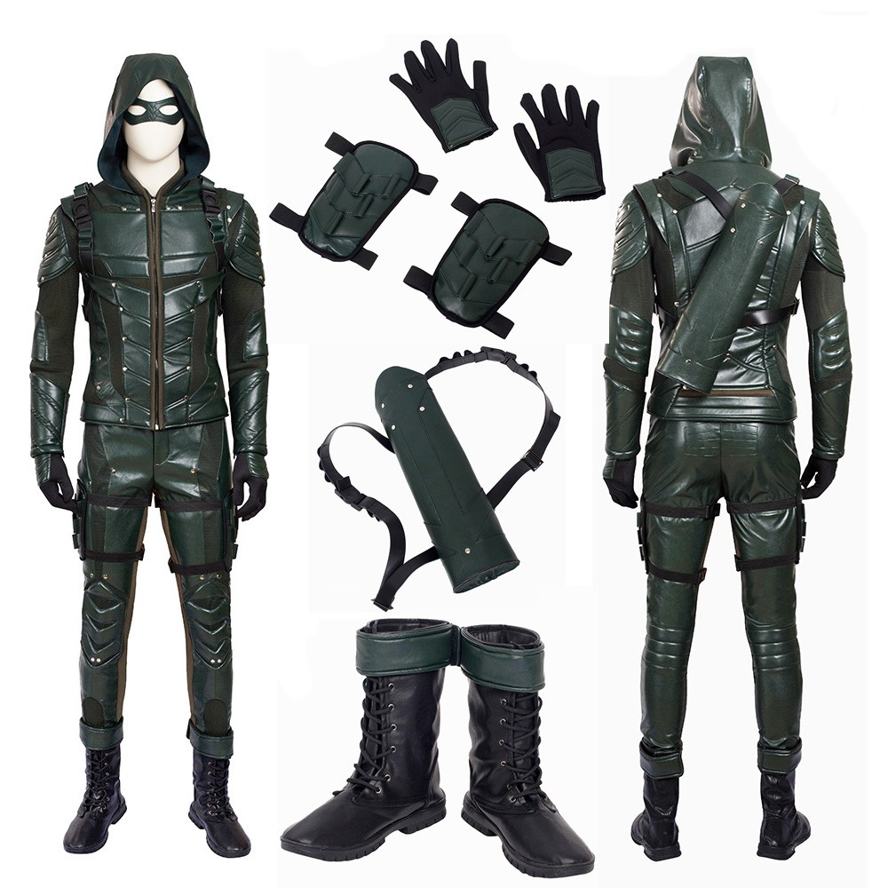 Dc Arrow 5 Oliver Queen Green Arrow Cosplay Costume Cosplay Arrow Trajes De Hombre Trajes De Cosplay
