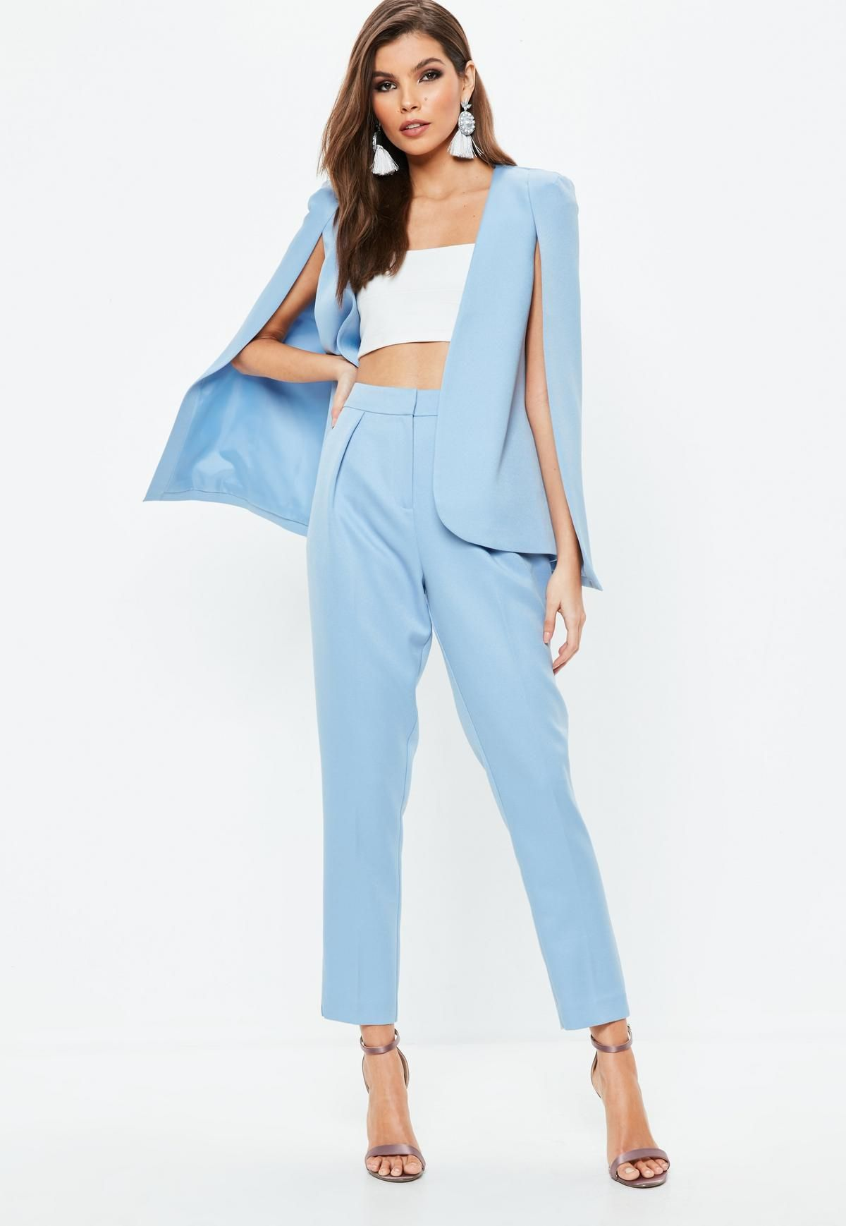 b8d57793 Blue Cape Blazer | Missguided | ever changing style in 2019 | Blazer ...