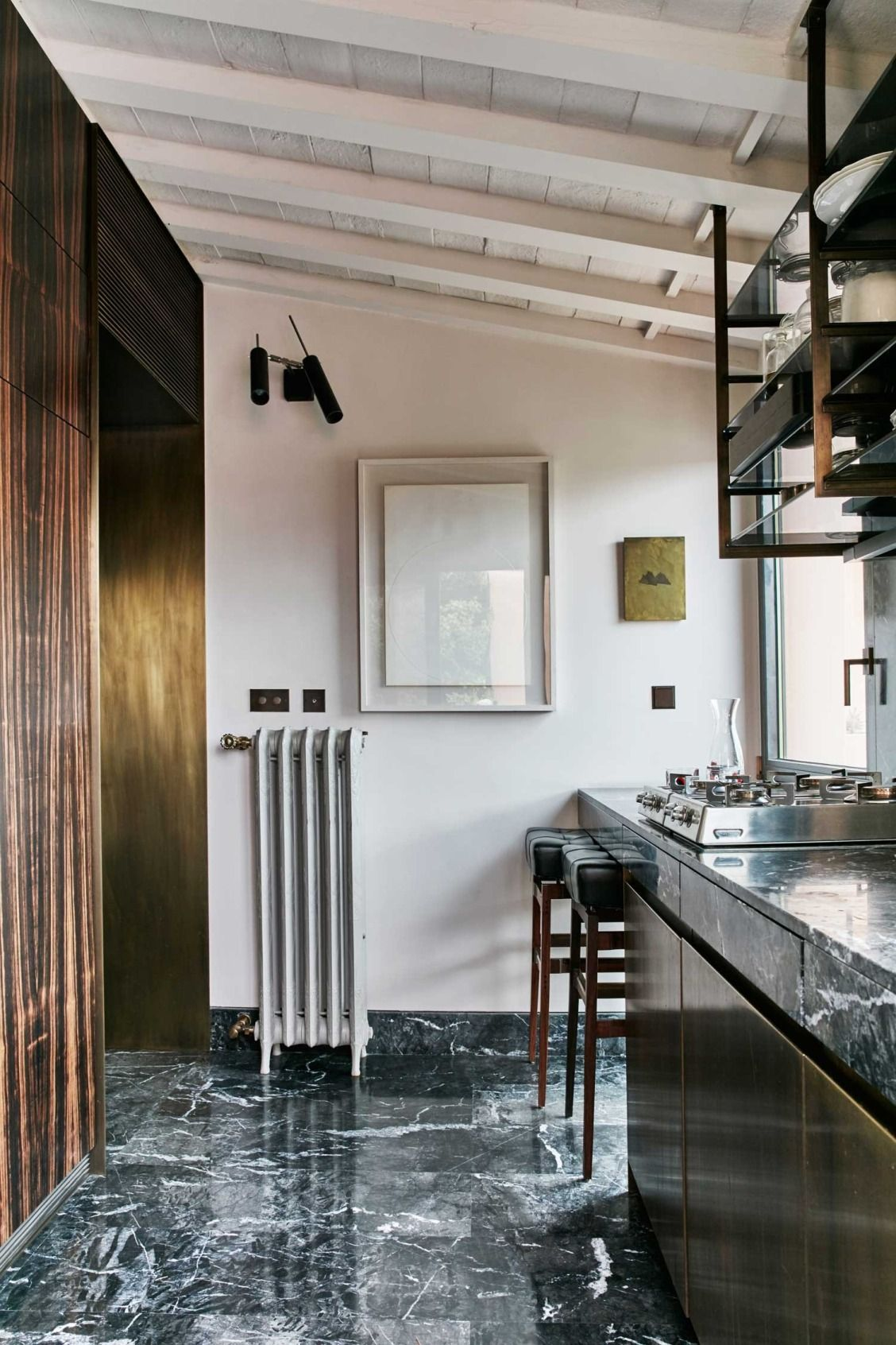 A tiny home in rome with an unusual floor plan u luxe look wood