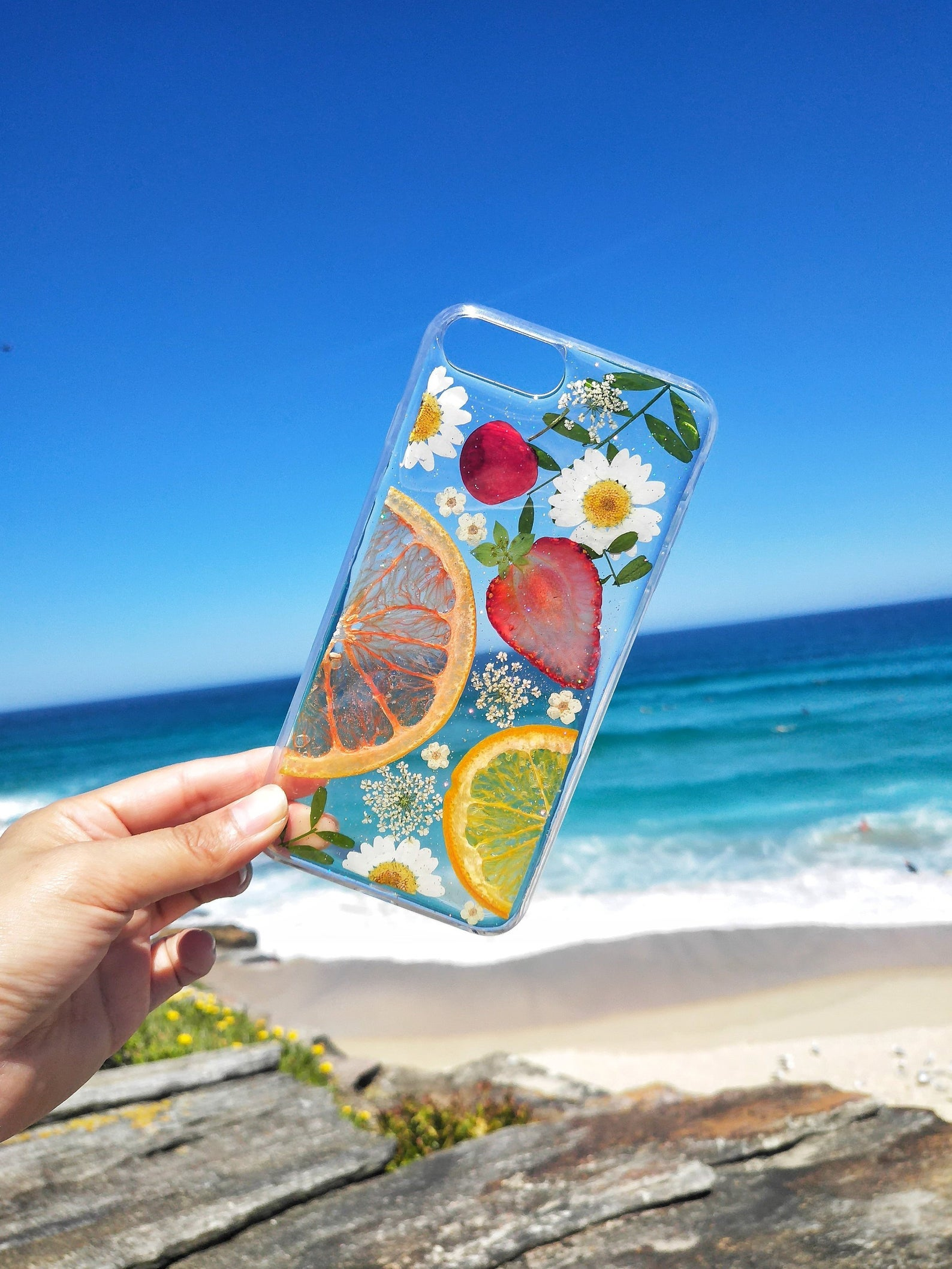 Iphone 11 pro max/Pressed Flower case/Pressed Fruit case