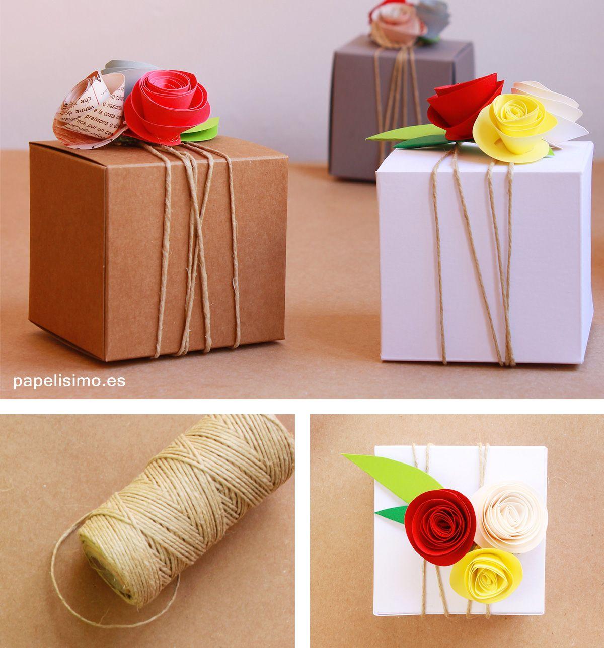 Envolver regalos originales con cuerda papelisimo for Envoltorios regalos originales