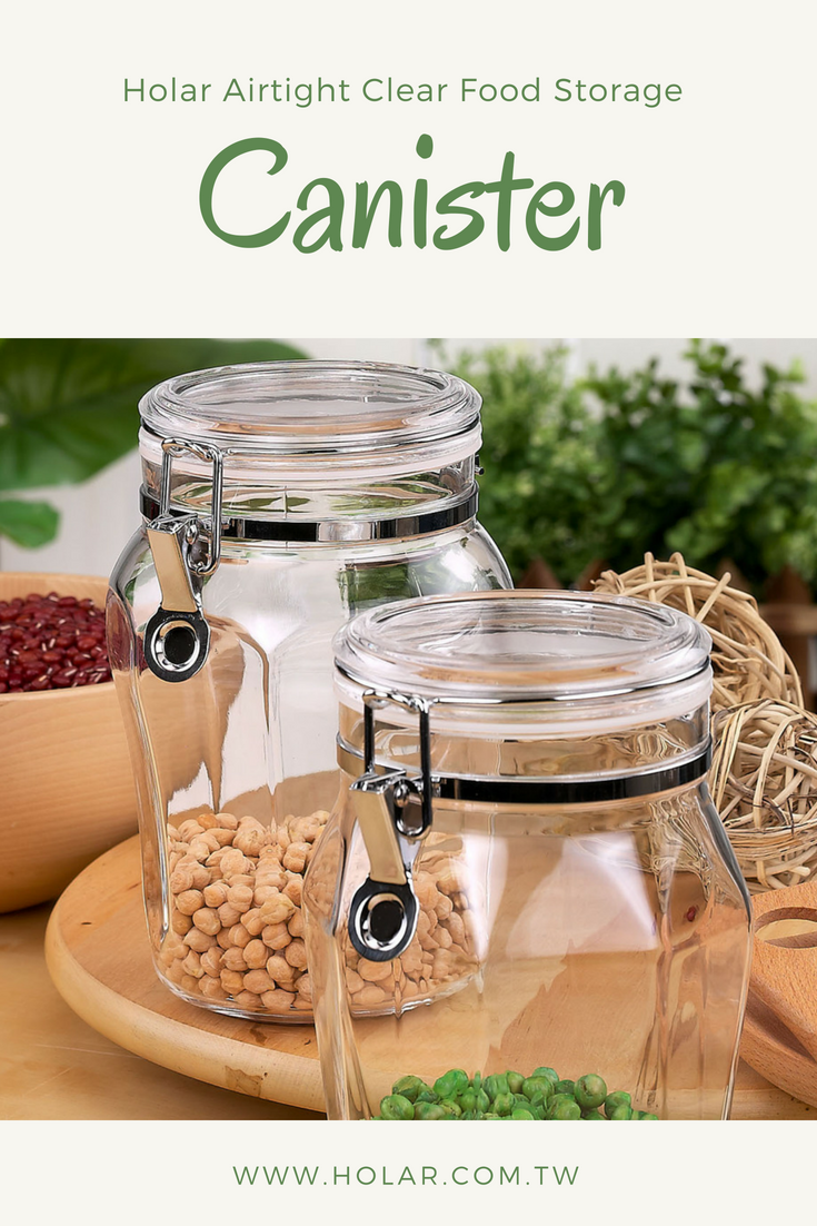 Holar Acrylic Canisters With Silver Clips Complement To Sleek Kitchen Surfaces Such As Anese Wicker And Walnut Wood Clear Lets You See Food At A