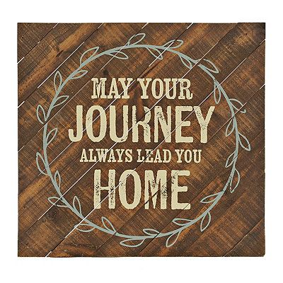 May Your Journey Wood Plank Plaque